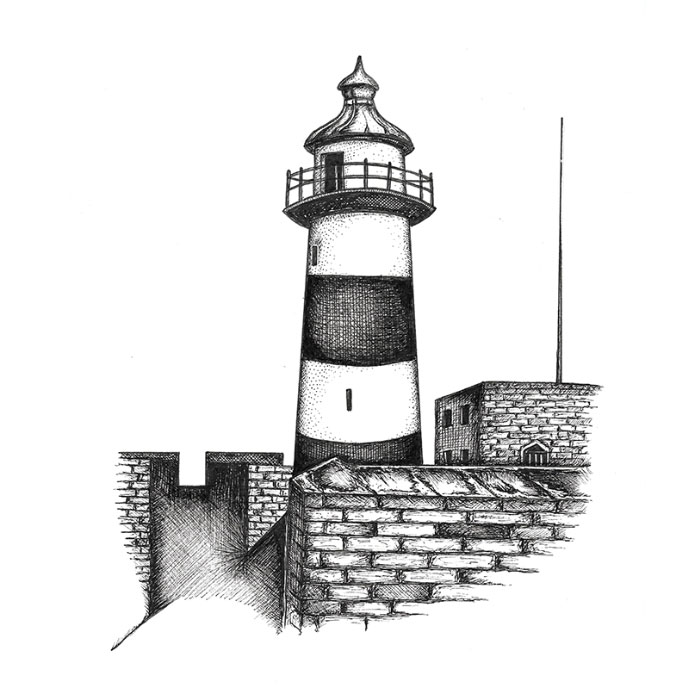 Southsea Castle drawing