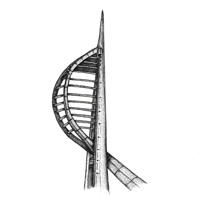 Spinnaker tower Portsmouth drawing
