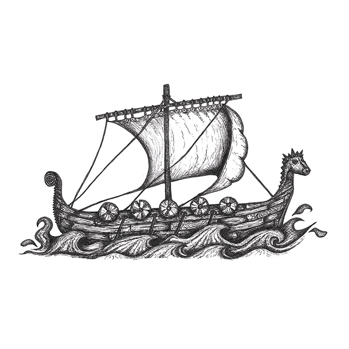 Viking ship drawing